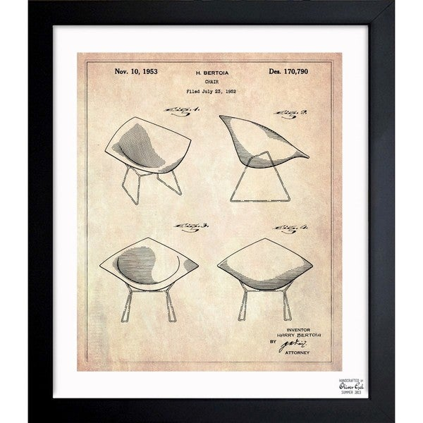 Shop oliver gal chair 1952 ii framed blueprint art on sale oliver gal x27chair 1952 iix27 framed blueprint art malvernweather