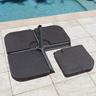 Corvus Cantilever 4-piece Plastic Water/ Sand Fillable Umbrella Base
