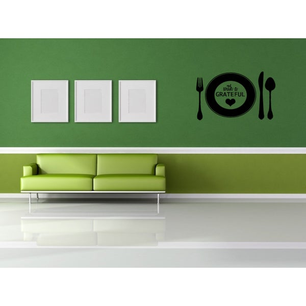 Eat Grateful For This Day Wall Art Sticker Decal