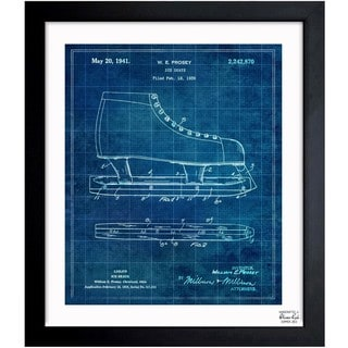 Oliver Gal 'Ice Skate 1941' Framed Blueprint Art