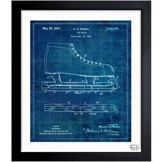 'Ice Skate 1941' Framed Blueprint Art