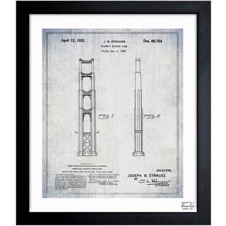 'Golden Gate Bridge 1932' Framed Blueprint Art