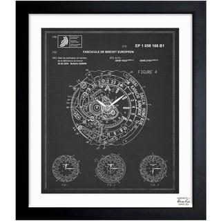 Oliver Gal 'World Time Watch 2009' Framed Blueprint Art
