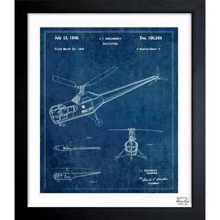 Link to Oliver Gal 'Helicopter 1946' Framed Blueprint Art Similar Items in Canvas Art