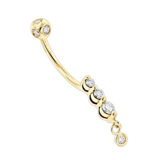 Luxurman 14k Gold 2/5ct TDW Diamond Upscale Quality Body Jewelry Piece (H-I, SI1-SI2)