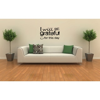 Grateful For This Day quote Wall Art Sticker Decal