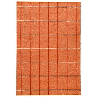 M.A.Trading Indian Hand-woven Brooklyn Rust Rug (4'6 x 6'6)