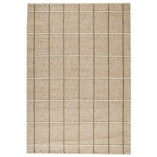 M.A.Trading Indian Hand-woven Brooklyn Beige Rug (4'6 x 6'6)