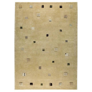 M.A.Trading Indian Hand-knotted Colombia White Rug (6'6 x 9'9)