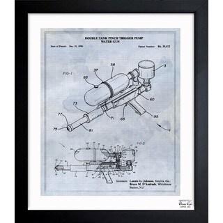 'Double Tank Punch Trigger Pump Water Gun 1996' Framed Blueprint Art