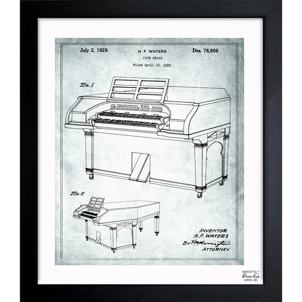 Oliver gal pipe organ 1929 framed blueprint art free shipping standard return policy malvernweather Choice Image
