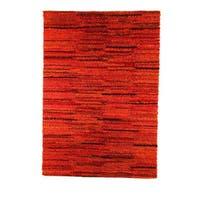 Handmade M.A.Trading Indian Mat Mix Rust Rug (4'6 x 6'6) (India)