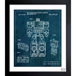 Oliver Gal 'Perceptor 1986' Framed Blueprint Art