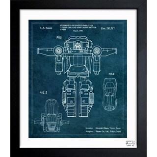 Oliver Gal 'Combined Reconfigurable Toy 1986' Framed Blueprint Art