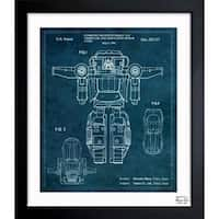 Oliver Gal 'Combined Reconfigurable Toy 1986' Framed Blueprint Art