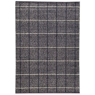 M.A.Trading Indian Hand-woven Brooklyn Charcoal Rug (4'6 x 6'6)