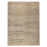 M.A.Trading Indian Hand-woven Square White Rug (6'6 x 9'9)