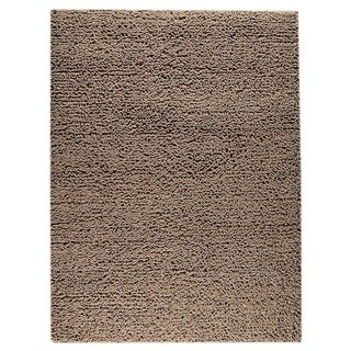 M.A.Trading Indian Hand-woven Square Brown Rug (6'6 x 9'9)