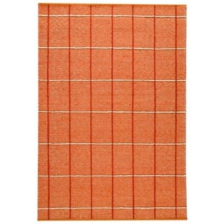 M.A.Trading Indian Hand-woven Brooklyn Rust Rug (5'6 x 7'10)