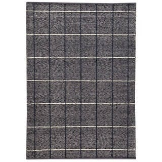 M.A.Trading Indian Hand-woven Brooklyn Charcoal Rug (5'6 x 7'10)
