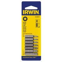 Irwin 3515997C 1.25-inch Hex Bit Set 7-count