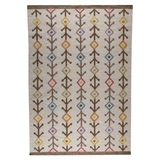 M.A.Trading Indian Hand-woven Khema7 Multicolored Rug (9'x12')