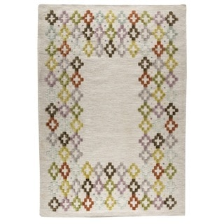 M.A.Trading Indian Hand-woven Khema3 Multicolored Rug (9'x12')
