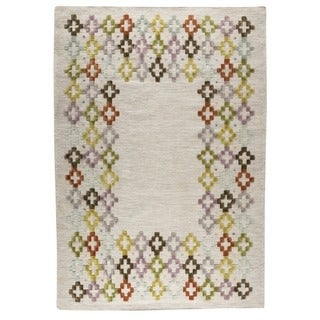 Indian Hand-woven Khema3 Multicolored Rug (9'x12')