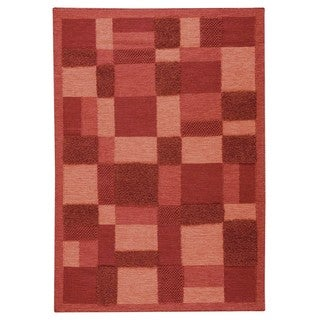 M.A.Trading Indian Hand-woven Veracruz Red Rug (8'3 x 11'6)