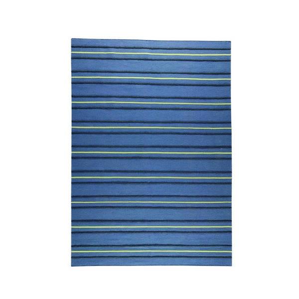 M.A.Trading Indian Hand-woven Savannah Blue Rug (8'3 x 11'6)