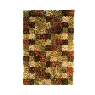 M.A.Trading Indian Hand-woven Bricks Beige/ Brown Rug (8'3 x 11'6)