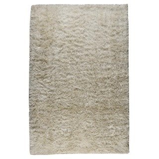 M.A.Trading Indian Hand-woven Sunshine White Rug (8'x10')