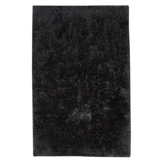 Indian Hand-woven Sunshine Black Rug (8'x10')