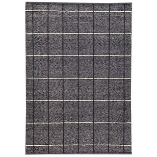 M.A.Trading Indian Hand-woven Brooklyn Charcoal Rug (8'3 x 11'6)