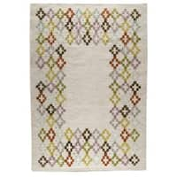 Handmade M.A.Trading Indian Khema3 Multicolored Rug (India)