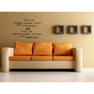 Thorns Have Roses quote Wall Art Sticker Decal