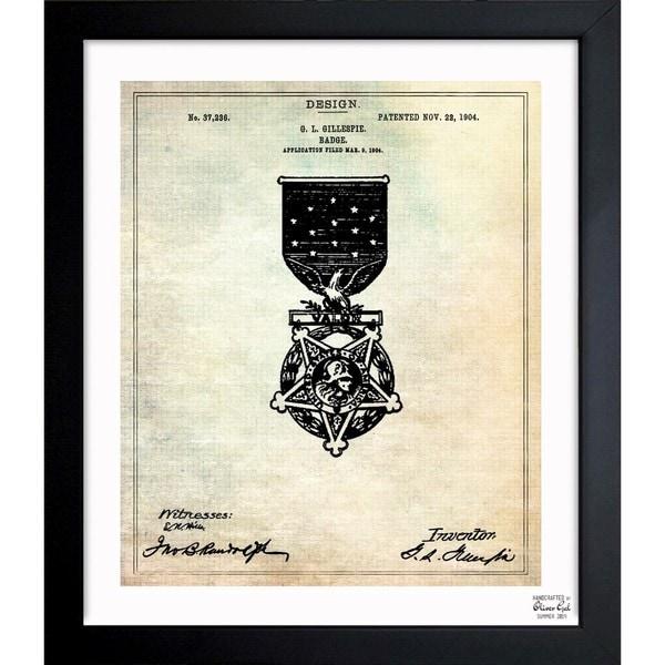 Shop oliver gal badge 1904 framed blueprint art on sale free oliver gal x27badge 1904x27 framed blueprint art malvernweather Gallery