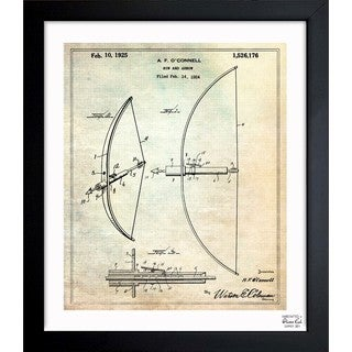 Oliver Gal 'Bow And Arrow 1925' Framed Blueprint Art