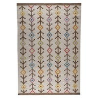 M.A.Trading Indian Hand-woven Khema7 Multicolored Rug (8'3 x 11'6)
