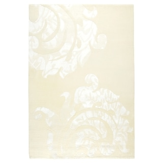 M.A.Trading Indian Hand-knotted Almeria White Rug (8'3 x 11'6)