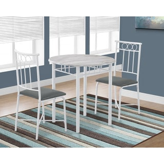 Three Piece White Metal Bistro Dining Set