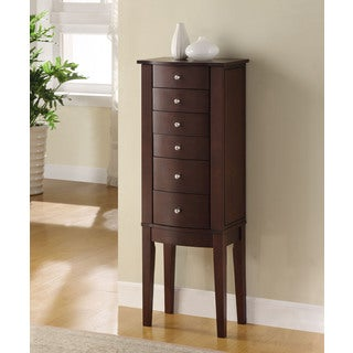 Powell Alexandra Merlot Finish Jewelry Armoire