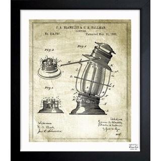 Oliver Gal 'Lantern 1885' Framed Blueprint Art