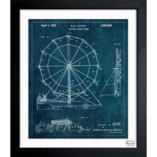 'Portable Ferris Wheel 1952' Framed Blueprint Art