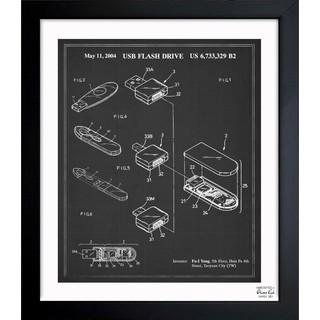 Oliver Gal 'Usb Flash Drive 2004' Framed Blueprint Art