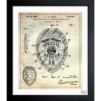 Oliver Gal 'Police Badge 1965' Framed Blueprint Art
