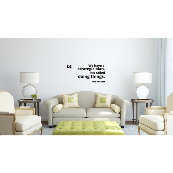 Doing Things quote Wall Art Sticker Decal