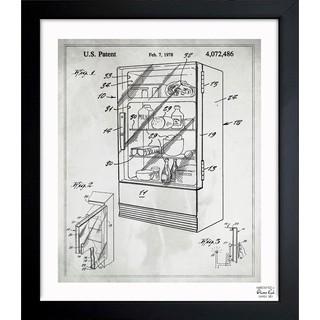 'Plexiglass Refrigerator 1978' Framed Blueprint Art