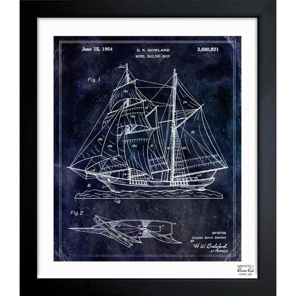 Oliver gal model sailing ship 1954 framed blueprint art free oliver gal x27model sailing ship 1954x27 framed blueprint art malvernweather Choice Image