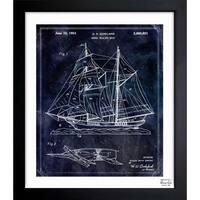 Oliver Gal 'Model Sailing Ship 1954' Framed Blueprint Art